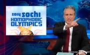 Jon Stewart Covers The Upcoming '2014 Sochi Homophobic Olympics'
