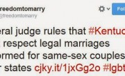Federal Judge Rules Kentucky Must Recognize Out Of State Same-Sex Marriages